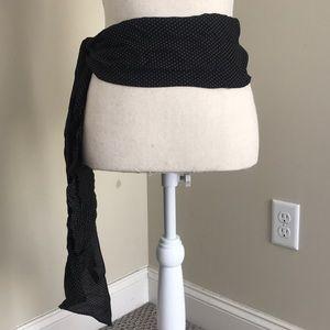 Wide waist polka dot belt